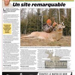 Article du Journal de Montréal sur Western Trophy Outfitters - janvier 2012 - page 1